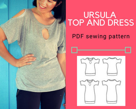 The Ursula Knit Top and Dress PDF sewing pattern
