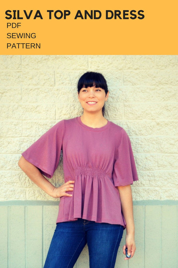 The Silva Top and Dress PDF sewing pattern and tutorial for women.  Knit dress and top pattern available in sizes 4 to 22. - DGpatterns