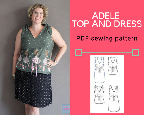 The Adele Top and Dress PDF sewing pattern and tutorial - DGpatterns