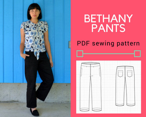 The Bethany pants PDF sewing pattern and tutorial - DGpatterns