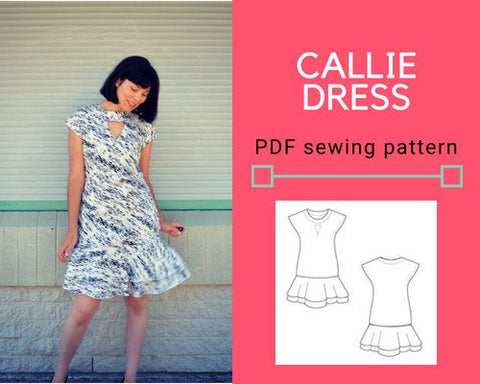 Callie Dress PDF sewing pattern and sewing tutorial