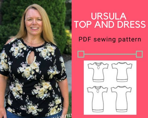 The Ursula Knit Top and Dress PDF sewing pattern - DGpatterns