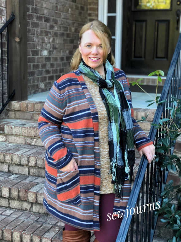 Gilliane Cardigan PDF sewing pattern and tutorial - DGpatterns