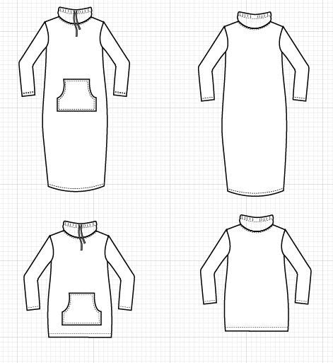 Lane Hoodie and Dress PDF sewing pattern and sewing tutorial - DGpatterns
