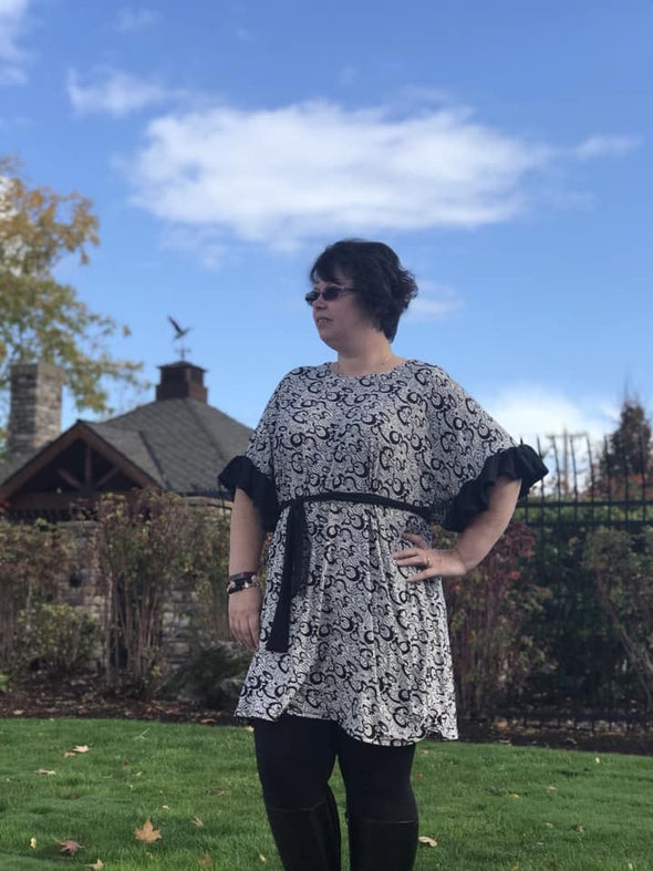The Aida Top and Dress Pattern - DGpatterns
