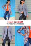 Leslie Cardigan PDF sewing pattern