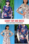 Gabby Top and Dress PDF sewing pattern and tutorial - DGpatterns