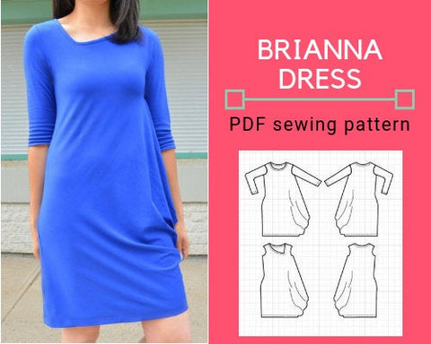 The Brianna Dress PDF printable Sewing pattern and Step By Step Sewing Tutorial