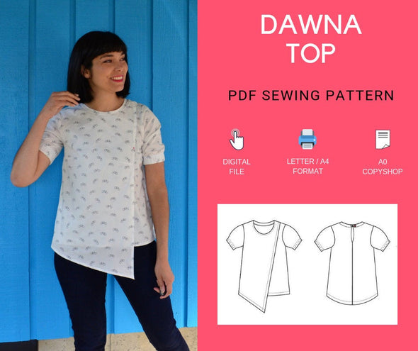 Dawna Top PDF sewing pattern - DGpatterns