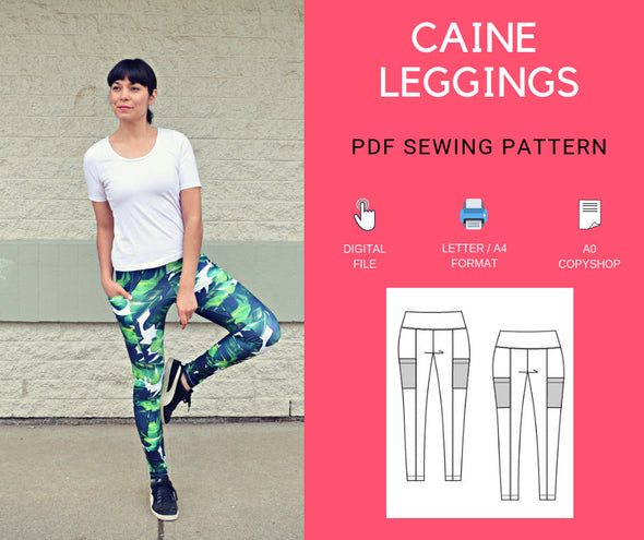 Caine Leggings PDF sewing pattern - DGpatterns