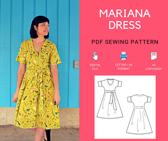 Mariana Dress PDF sewing pattern - DGpatterns
