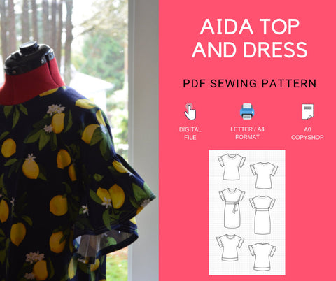 The Aida Top and Dress Pattern