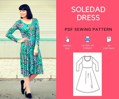 Soledad Dress PDF sewing pattern and tutorial - DGpatterns