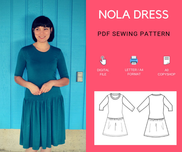 Nola Dress PDF sewing pattern - DGpatterns