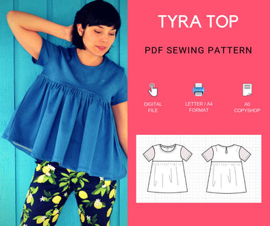 Tyra Top PDF sewing pattern - DGpatterns