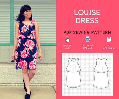 Louise Dress PDF sewing pattern & sewing tutorial for women - DGpatterns