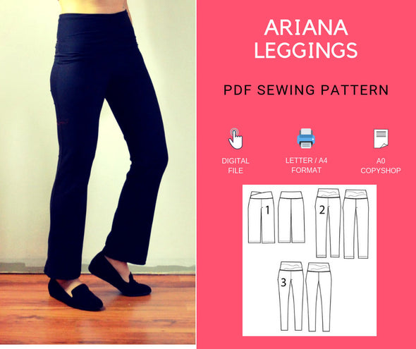 Ariana Leggings PDF sewing pattern - DGpatterns