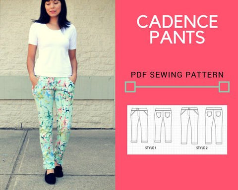 Cadence Pants PDF sewing pattern