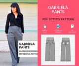 Gabriela Pants PDF sewing pattern and sewing tutorial