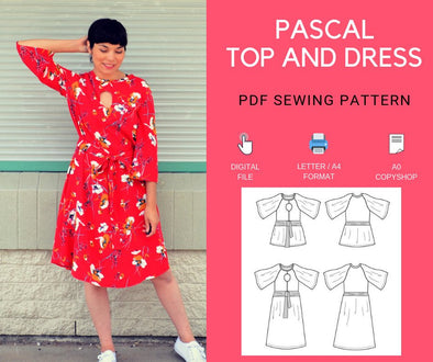 Pascal Top and Dress PDF sewing pattern - DGpatterns