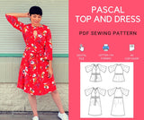Pascal Top and Dress PDF sewing pattern