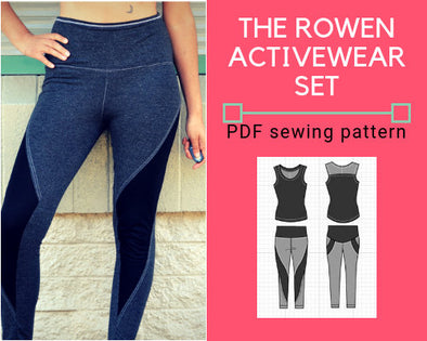 Rowen Activewear Set PDF sewing pattern - DGpatterns