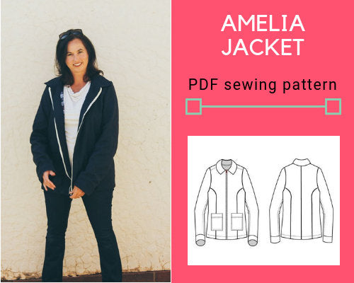 Amelia Jacket PDF sewing pattern - DGpatterns