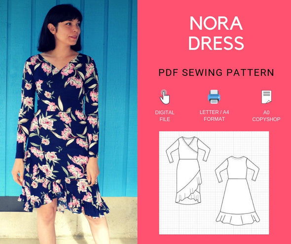 Nora Dress PDF sewing pattern - DGpatterns