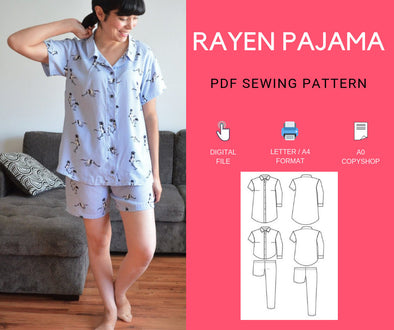 The Rayen Pajama PDF sewing pattern and tutorial for women - DGpatterns