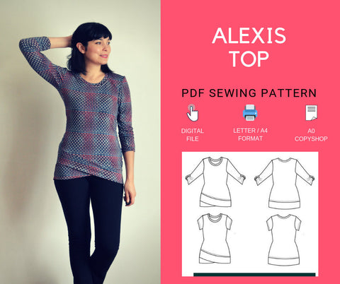 Alexis Top PDF sewing pattern and Sewing tutorial - DGpatterns