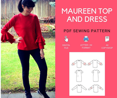 The Maureen Top and Dress PDF Sewing Pattern and Tutorial