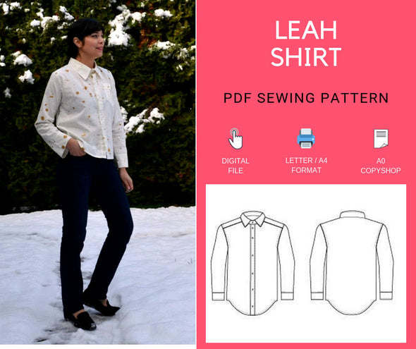 The Leah Shirt PDF sewing pattern and Sewing tutoria - DGpatterns
