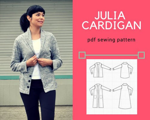 Julia Cardigan PDF sewing pattern