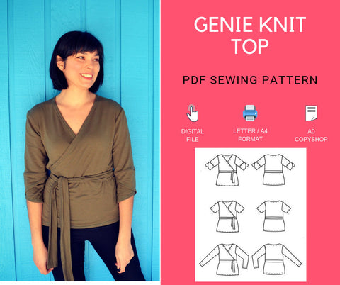 Genie Knit Top Printable sewing pattern