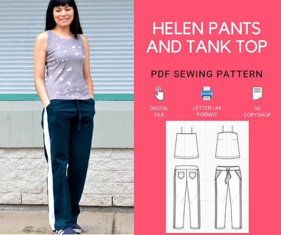 The Helen Track Pants and sleeveless top - DGpatterns