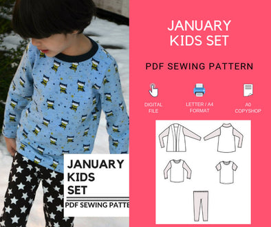 January Kids Set PDF sewing patterns and Sewing Tutorial - DGpatterns