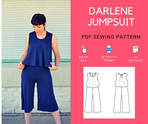 The Darlene Jumpsuit PDF sewing pattern