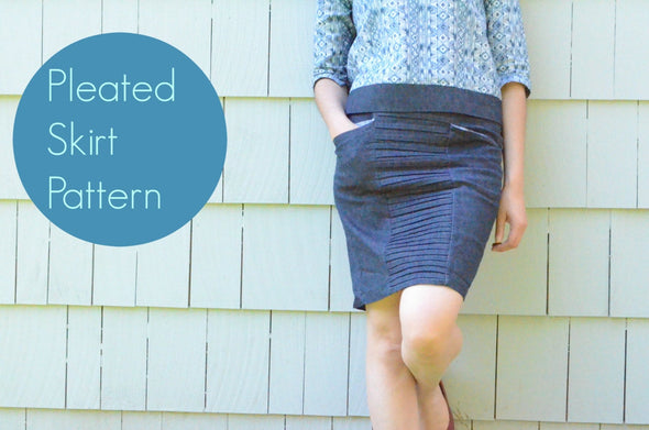 Pleated Skirt Pattern - DGpatterns