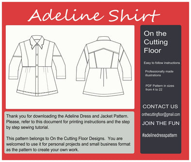 Adeline Shirt PDF Sewing pattern - DGpatterns