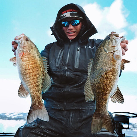 Finatic Pro Jared Hoffman holding some nice Small Mouth