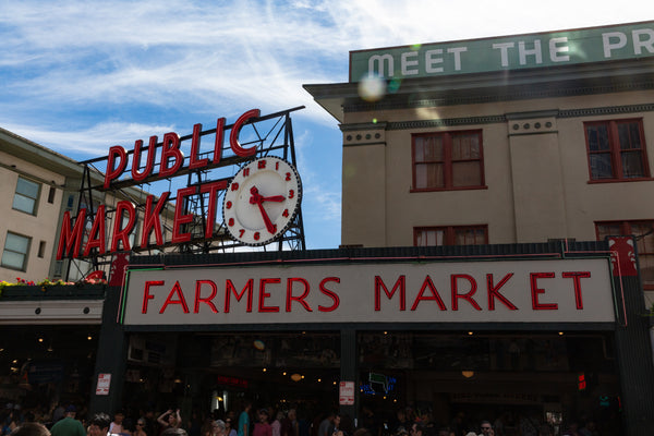 Front sign for Pikes Place Market