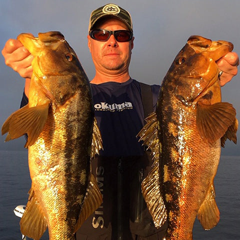 Finatic Pro Scotty Pethel Holding calico bass