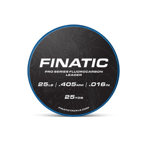 Finatic Pro Series 25 yard fluorocarbon leader 25 pound spool