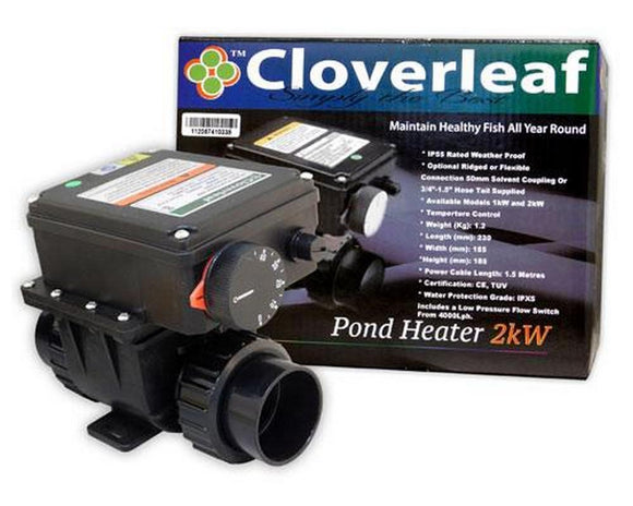 Cloverleaf 2kW Heater Digital Stainless body - SKS Wholesale