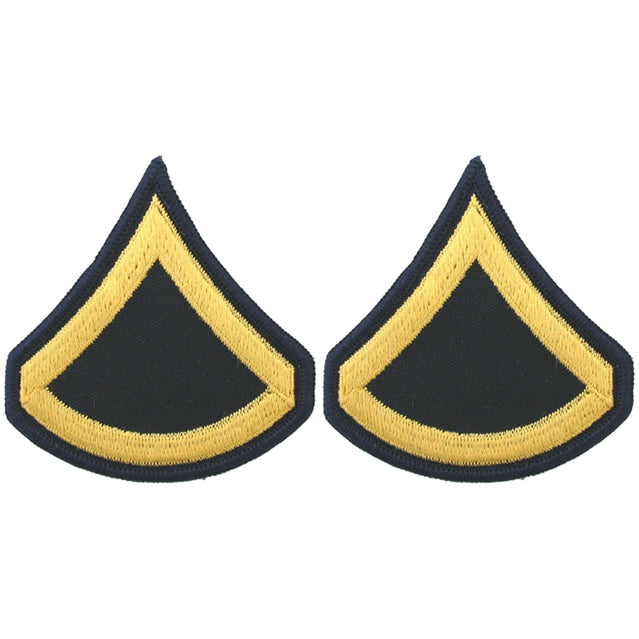 U.S. Army Private First Class E-3 Rank Patches, ASU