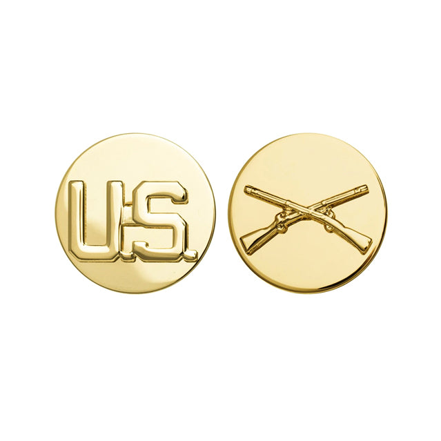 U.S. Infantry & U.S. Collar Device, Enlisted