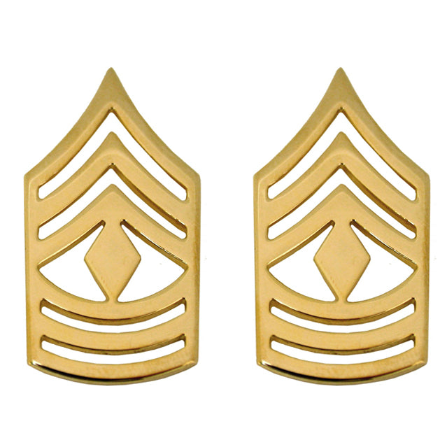 Copy of U.S. Army First Sergeant (1SG) Collar Ranks, Gold