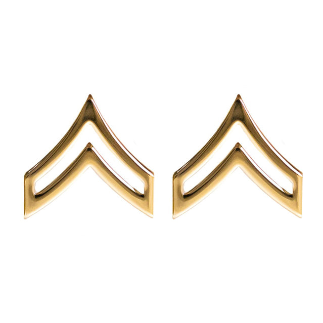 U.S. Army Corporal (CPL) Collar Ranks, Gold