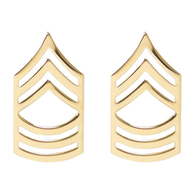 U.S. Army Master Sergeant (MSG) Collar Ranks, Gold