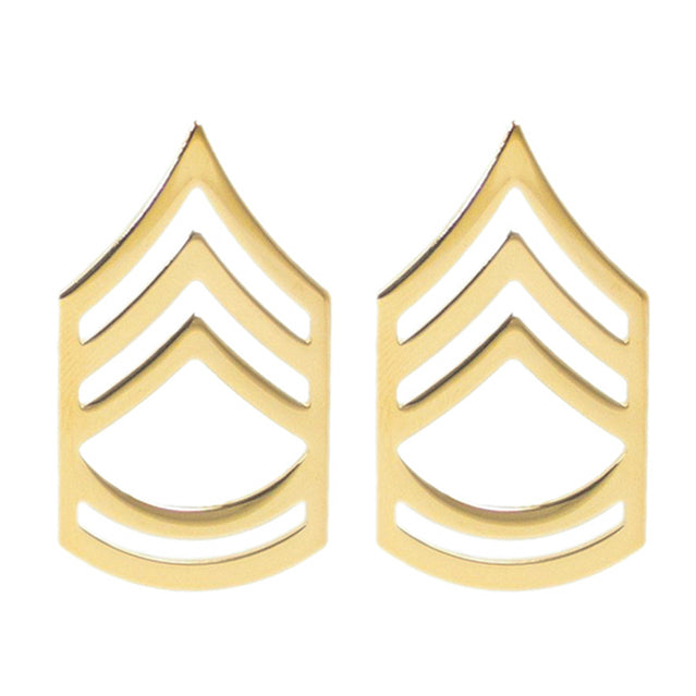 U.S. Army Sergeant First Class (SFC) Collar Ranks, Gold